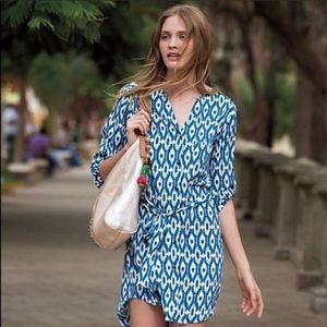 Anthropologie Maeve Ikat Shirt Dress